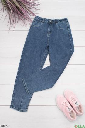 Женские синие джинсы-Boyfriend