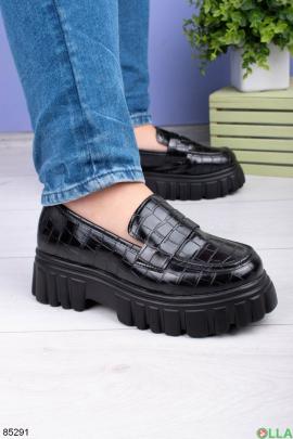 Женские черные туфли без застежки