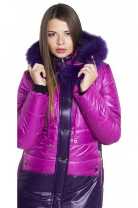 Женское фиолетово-сиреневое пальто