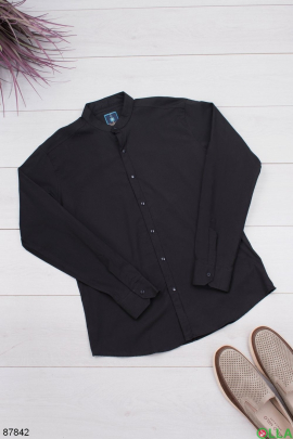 Мужская классическая черная рубашка