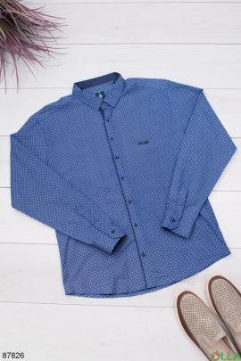 Мужская рубашка в горошек