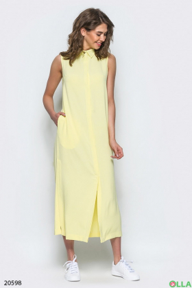 Практичное платье-халат длинной миди