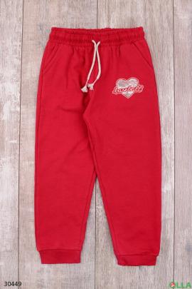Спортивные штаны красного цвета