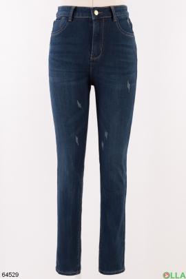 Женские зимние джинсы на флисе