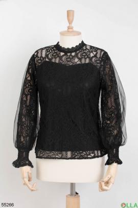 Женская блузка с фатином