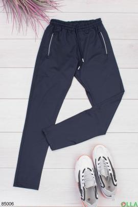 Мужские темно-синие спортивные брюки