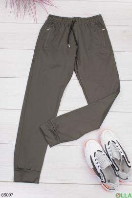Мужские спортивные брюки цвета хаки
