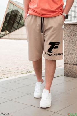 Мужские бежевые спортивные шорты