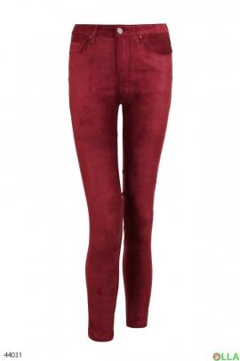 Женские велюровые брюки