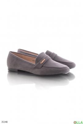 Женские серые туфли