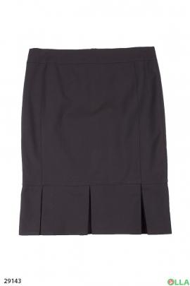 Классическая юбка в складку по краю