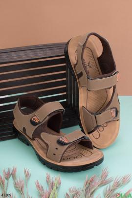 Мужские темно-бежевые сандалии