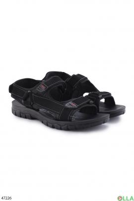 Мужские чёрные сандалии