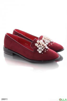 Женские туфли бордового цвета