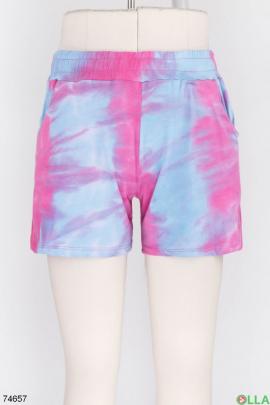 Женские разноцветные спортивные шорты
