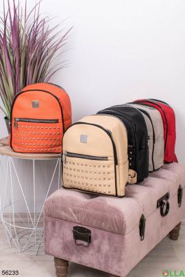 Женский Оранжевый рюкзак