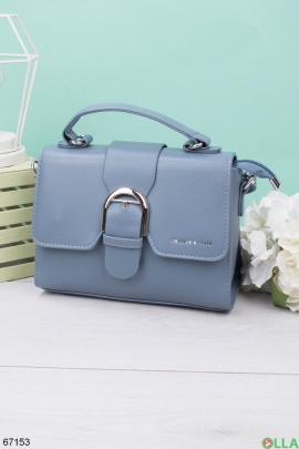 Женская голубая сумка
