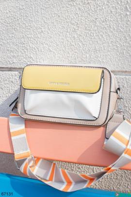 Женская сумка на широком ремешке