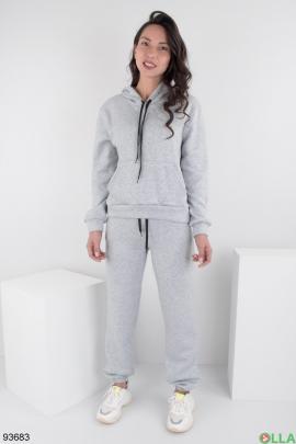 Женский светло-серый спортивный костюм