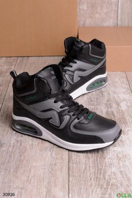Мужские кроссовки чёрно-серого цвета