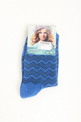 Женские носки синего цвета