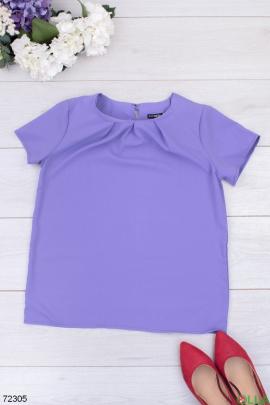 Женская лиловая блузка