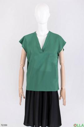 Женская зеленая блузка
