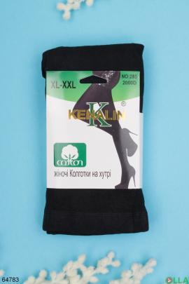 Женские черные колготы 2000Den