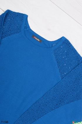 Женский синий свитер