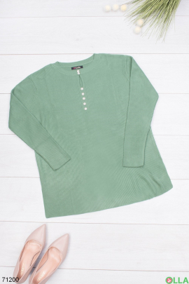 Женский свитер цвета хаки