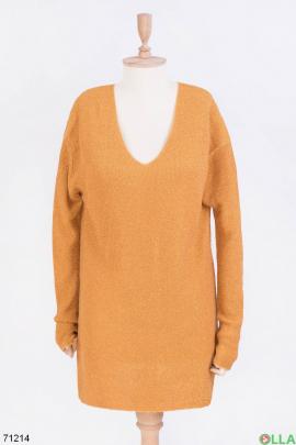 Женский оранжевый свитер