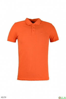 Мужское поло оранжевого цвета