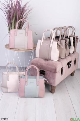 Женская двухцветная сумка