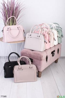 Женская темно-розовая сумка