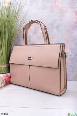 Женская светло-коричневая сумка
