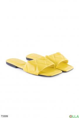 Женские желтые шлепанцы