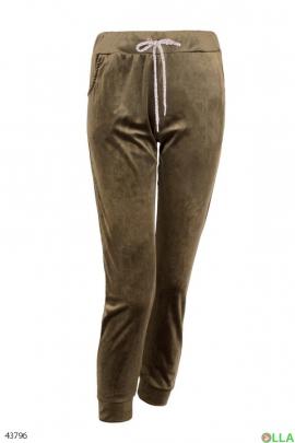 Женские велюровые штаны