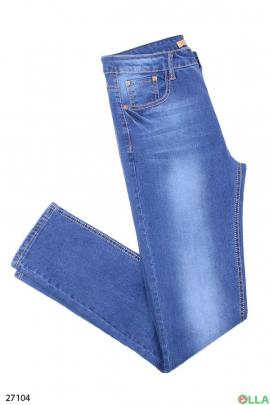 Светлые джинсы-скинни