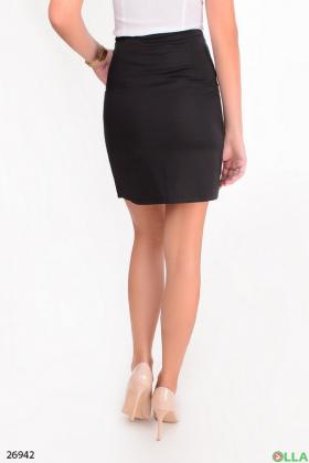 Женская черная юбка со змейкой