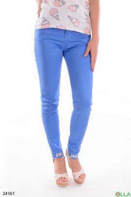 Женские брюки синего цвета