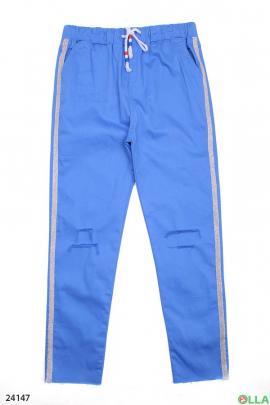 Синие штаны с лампасами