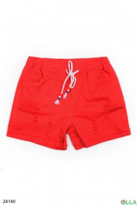 Красные шорты на резинке