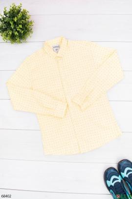 Мужская желтая рубашка