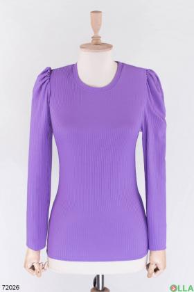 Женская фиолетовая кофта