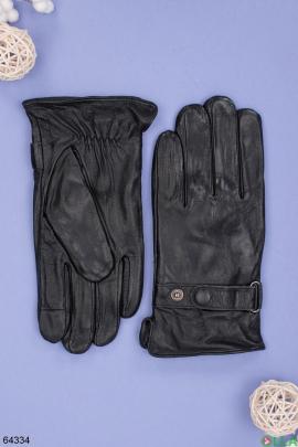 Мужские зимние черные перчатки