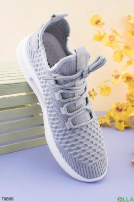 Мужские серые кроссовки из текстиля