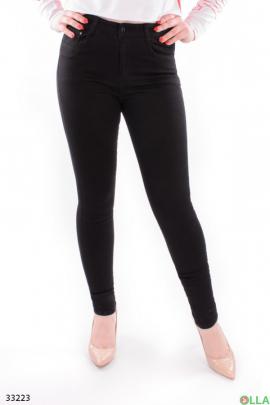 Женские джинсы чёрного цвета