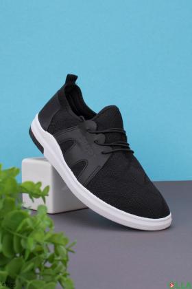 Мужские чёрные кроссовки