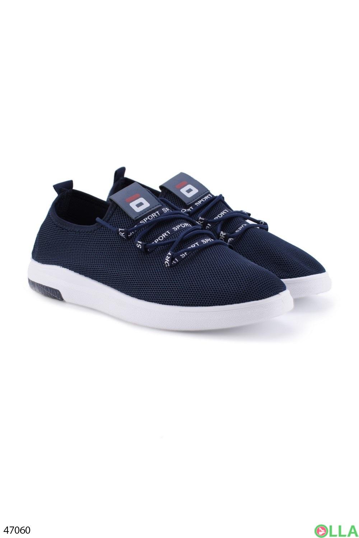 Мужские синие кроссовки