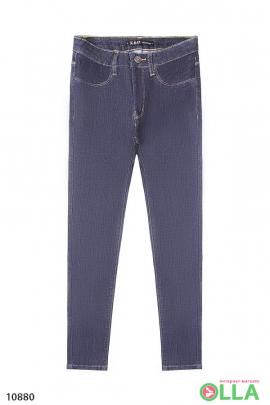 Женские  однотонные джинсы скинни